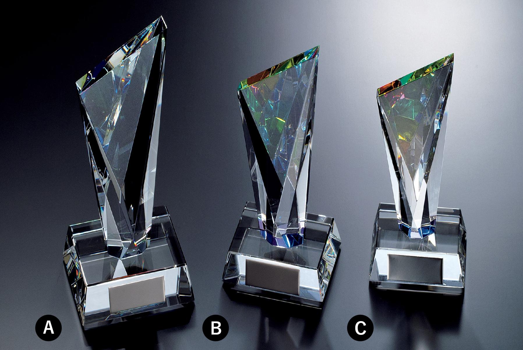 クリスタルトロフィー JG-B-503 透明度抜群の光学ガラス(オプティカルガラス)が美しい人気定番クリスタルトロフィー