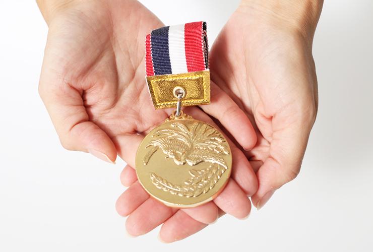 子供から大人まで幅広く使える直径52ミリサイズの表彰メダル JG-MBS