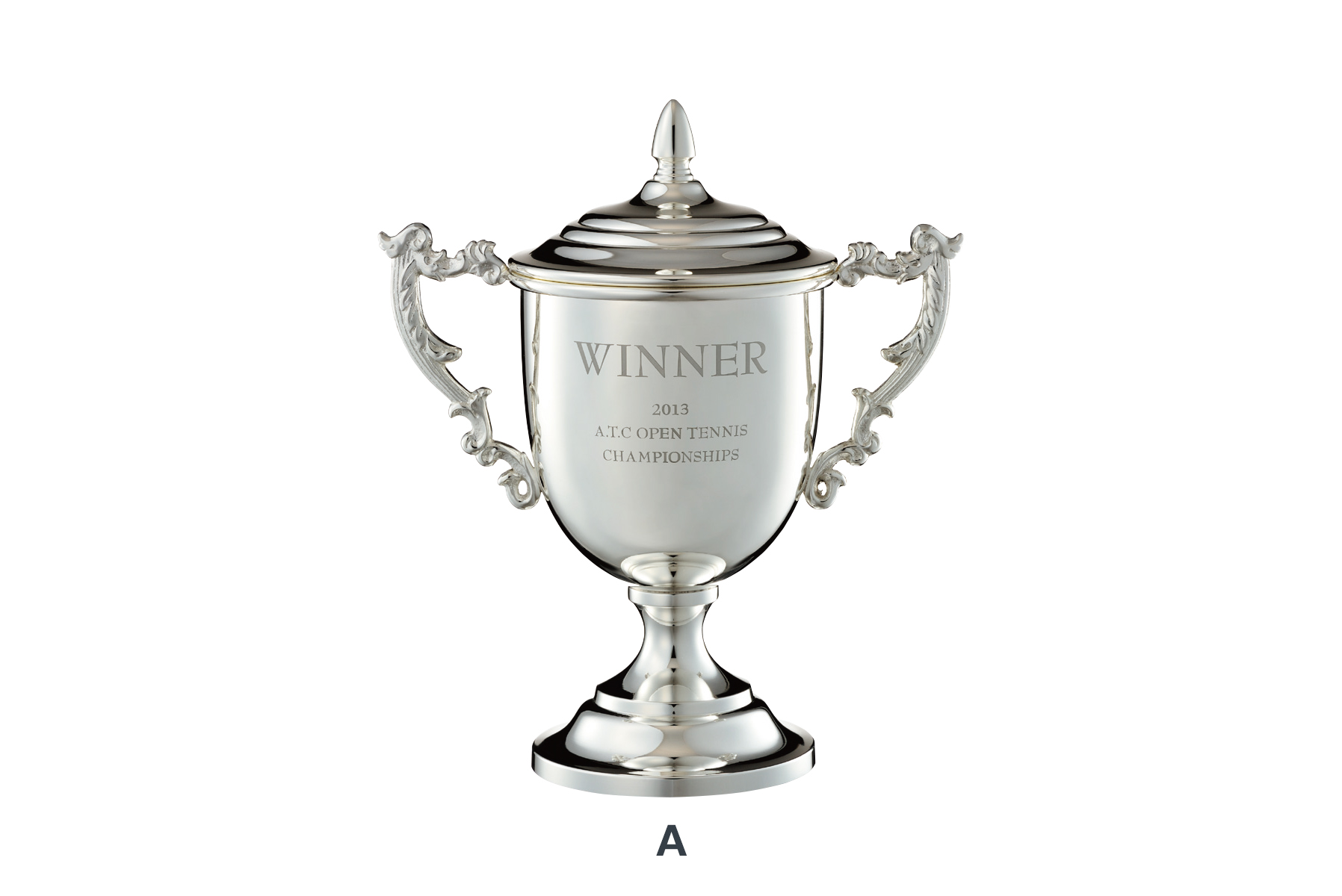 JV-VOC-170 カップに直接オリジナル彫刻が可能なシーンを選ばない高級優勝カップ